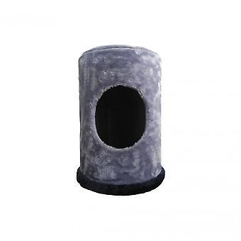 Luckypet chat chenil intérieur chien gris bleu relax peluche
