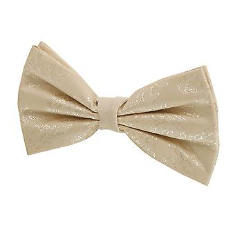 Dobell Boys Gold Paisley Bow Tie Pré-tied