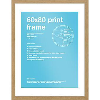 Eton eiken Frame 60x80cm Poster / Frame afdrukken