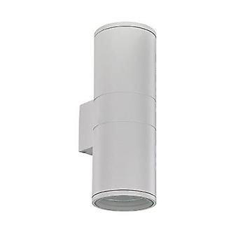2 Light Outdoor Large Wall Light White, Black Ip54