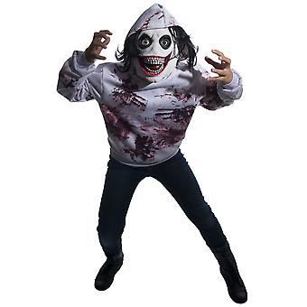 Go To Sleep Jeff the Killer Creepypasta Horror Monster Halloween Mens Costume