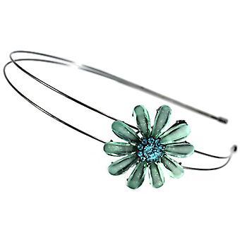 Hair Accessories Aqua Blue Crystal Daisy Flower Double B &