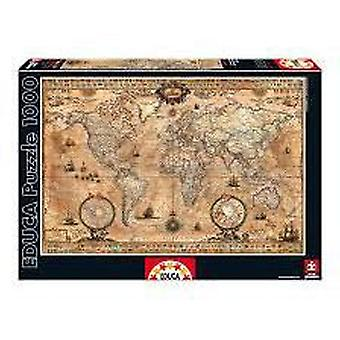 Educa Puzzle World Map 1000 Pieces (Kids , Toys , Table games , Puzzles)