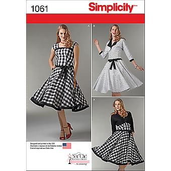 SIMPLICITY MISSES' SEW CHIC DRESS AND LINED JACKET-4-6-8-10-12 US1061D5