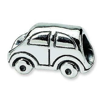 Sterling Silver Polished Antique finish Reflections SimStars Car Bead Charm