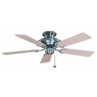 Ceiling Fan Mayfair stainless steel with pull cord 107 cm / 42