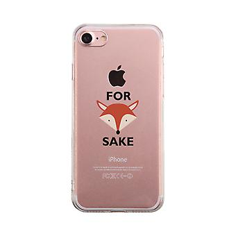 For Fox Sake Funny Transparent Phone Case Cute Clear Phonecase