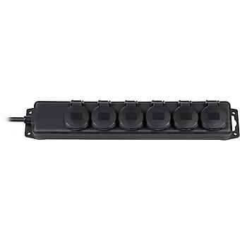 Brennenstuhl power strip 6xCEE 1xCEE 7/4, 7/7, IP 44, 2 m cable, black