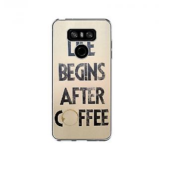 Capa life begins after coffee para LG G6