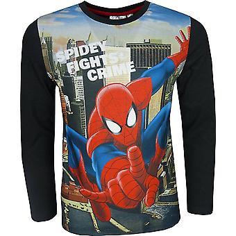 Marvel Spiderman Boys Long Sleeve T-Shirt
