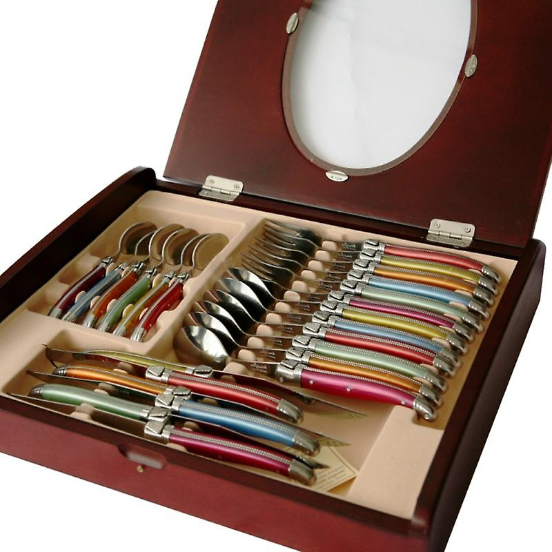 Set of 24 pieces Laguiole in assorted colors Direct from France