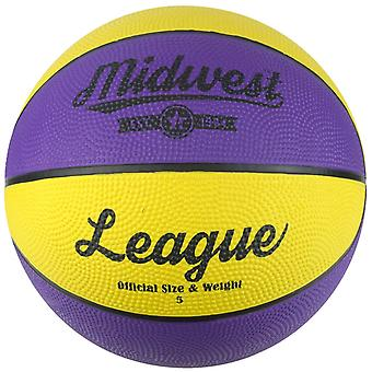 Midwest Basketball Yellow & Purple Size 7