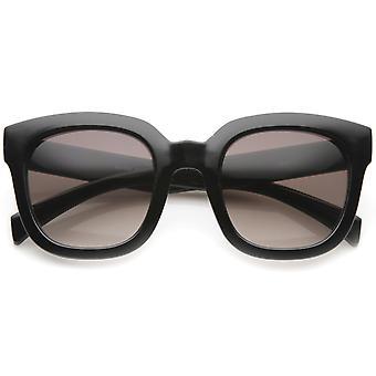 Moderne Oversize tykk Hornet Rimmed farget linsen Square solbriller 53mm