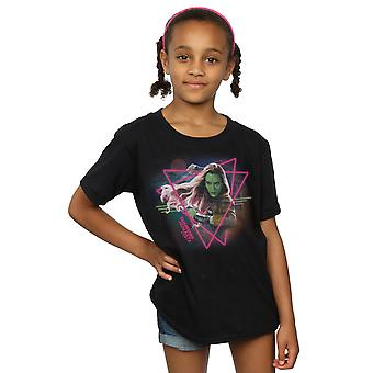 Marvel Girls Guardians of the Galaxy Neon Gamora T-Shirt