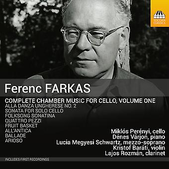 Farkas / Perenyi / Varjon / Schwartz / Barati - Farkas: kammermusik for Cello vol. 1 [CD] USA import