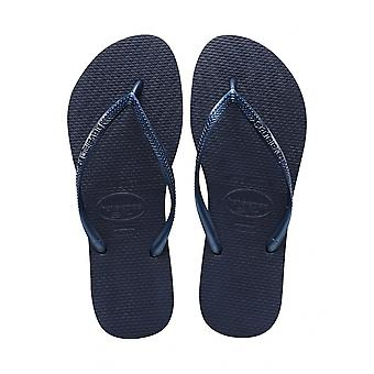 Havaianas Slim - Navy Blue (Rubber) Womens Sandals