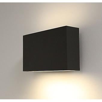 UpDown LED wall light vierkant, antraciet, IP44, 6W, warm wit, 10434