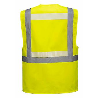 Portwest - Hi-Vis sikkerhet WorkwearGlowtex Ezee Zip Executive Vest