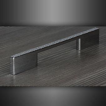 M4TEC Bar Kitchen Cabinet Door Handles Cupboards Drawers Bedroom Furniture Pull Handle [Polished chrome with textured glitter effect top surface]. D3 series: 204 mm