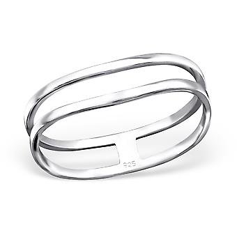 Double Wire - 925 Sterling Silver Plain Rings