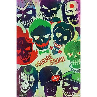 Suicide Squad - Faces Poster Poster Print