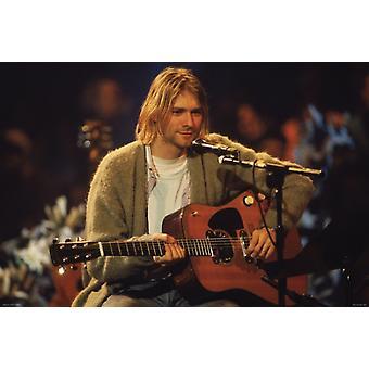 Kurt Cobain - Unplugged Pic Poster Poster Print