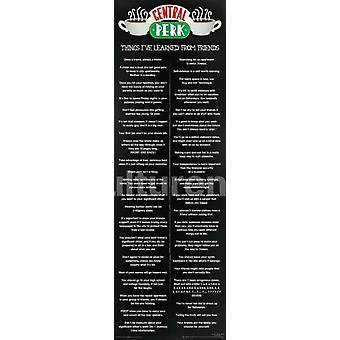 Vänner - saker jag lärt mig - Central Perk affisch affisch Skriv
