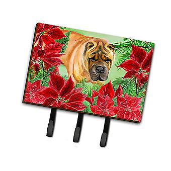 Carolines Treasures  CK1309TH68 Shar Pei Poinsettas Leash or Key Holder