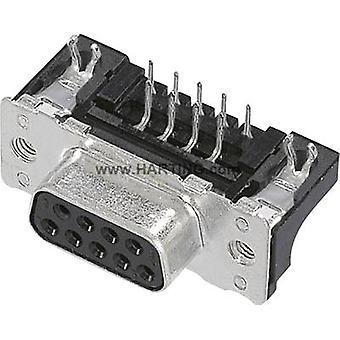 D-SUB receptacles 90 ° Number of pins: 9 Soldering Harting