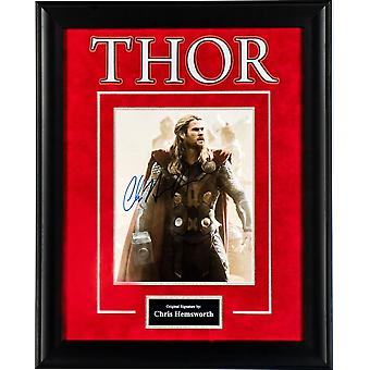 Thor Photo Signed by Chris Hemsworth Framed Artist Series