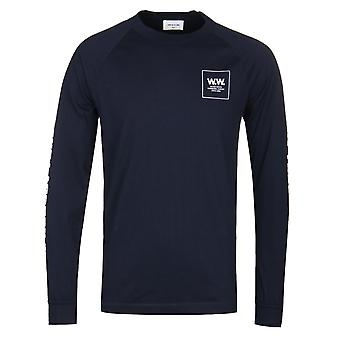 Wood Wood Navy Han Long Sleeve T-Shirt