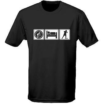 Eat Sleep Football Mens T-Shirt 10 Colours (S-3XL) by swagwear