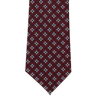 Michelsons of London Squares Motif Polyester Tie - Wine