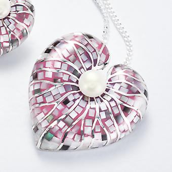 Shipton and Co Ladies Shipton And Co Silver And Freshwater Pearls Pendant Including A 16 Silver Chain TNI029FPPM
