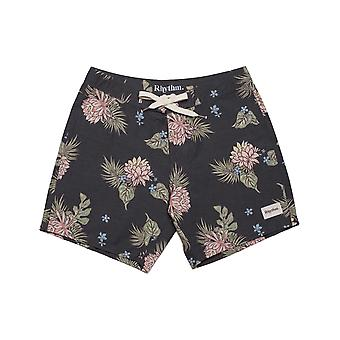 Rhythm Retro Bloom Trunks Mid Length Boardshorts