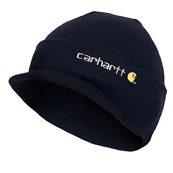 Carhartt Winter Hat with Visor - Navy CHA164NVY Mens Beanie with peak Hat