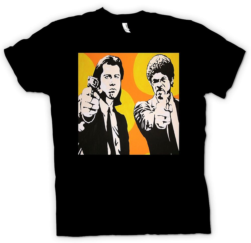 Kvinner t-skjorte-Pulp Fiction - Pop Art - Vincent & Jules