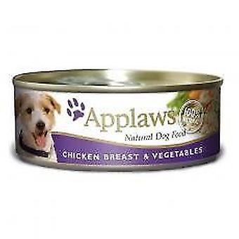 Applaws hund kan mad med kylling & grøntsager 156g (Pack af 16)