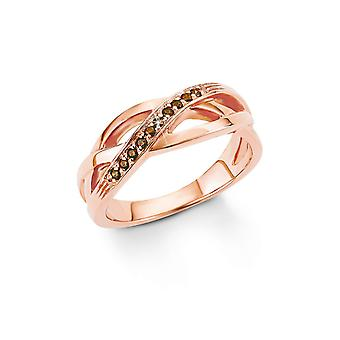 s.Oliver jewel ladies silver cubic zirconia ring Rosé gold SO1297