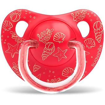 Suavinex Anatomical Pacifier Latex Red Sea 6 to 18 Months