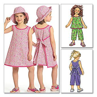 Children's/Girls Top, Dress, Pants and Hat-CL (6-7-8) -*SEWING PATTERN*
