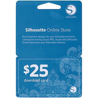 Silhouette $25 Download Card-