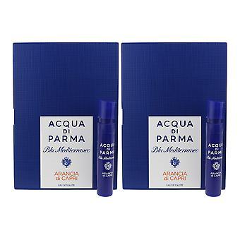 Acqua Di Parma 'Blu Mediterraneo Arancia Di Capri' EDT 0.05oz/1.2ml (Pack OF 2)