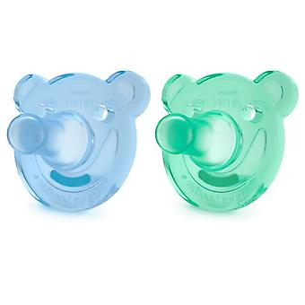 Avent Pacifiers Soothie Shapes Blue and Green +3m 2 pcs