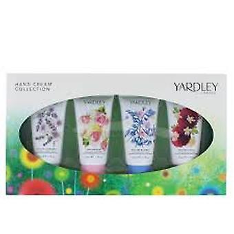 Yardley hånd creme Gavesæt 4 x 50ml - engelsk Bluebell + engelsk lavendel + engelsk Rose + dansk Dahlia