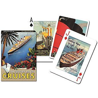 Goldene Zeitalter der Kreuzfahrten Satz von 52 (+ Joker) Spielkarten