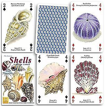 Schelpen Set van 52 speelkaarten (+ Jokers)