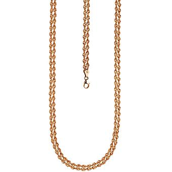 Necklace chain 375 gold rose gold 45 cm pink gold chain carabiner