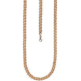 Naszyjnik łańcuch 375 złota Róża złota 45 cm różowy złoty łańcuch karabińczykiem
