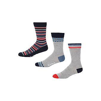 New Designer Mens Pepe Jeans Gift Socks Sandy Gift Set